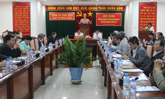 Phú Yên triển khai nhiệm vụ công tác tuyên giáo năm 2018